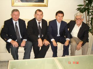 FIDE President and the members of the Serbia Chess Federation