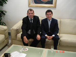 FIDE President and the President of the Serbia Chess Federation