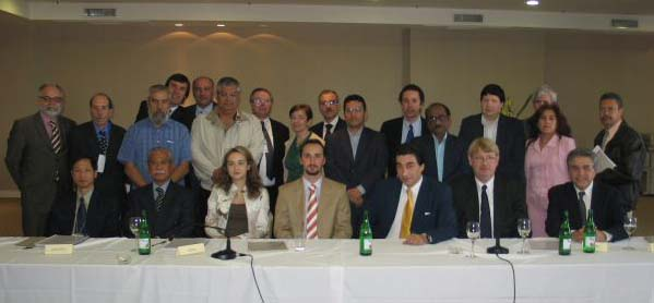 Group photo with presidents of neighboring