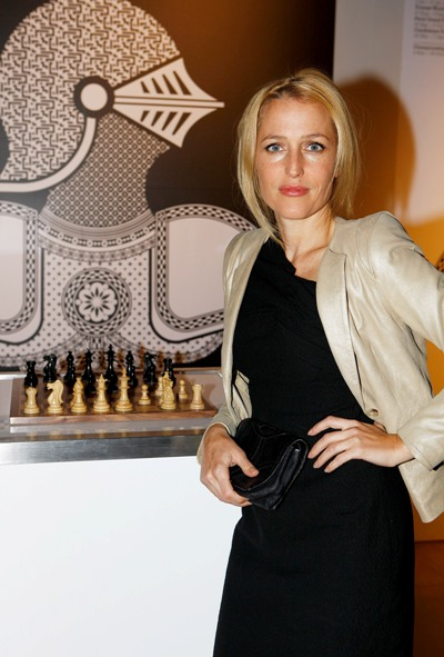 Gillian Anderson at launch party at Somerset House