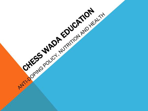 Chess Anti-Doping Education Page 1