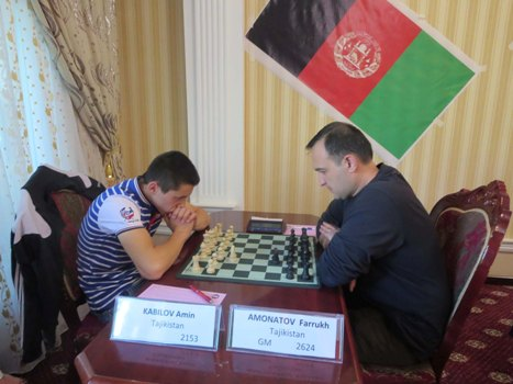 prize winner among juniors Amin Kabilov and 4th place in the event GM Farrukh Amonatov