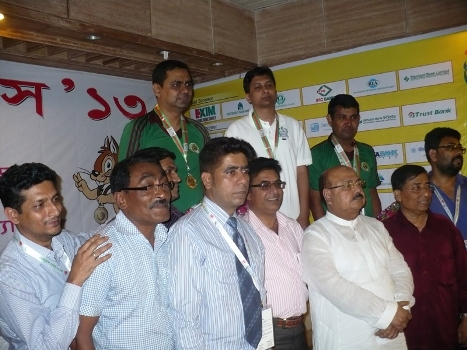 Medal Winners of Men Individual Rapid and Bangladesh Chess Federation officials