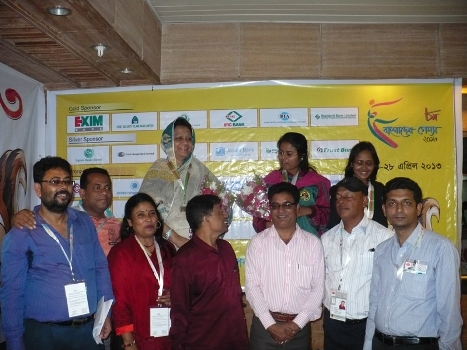 Medal Winners of Women Individual Rapid and Bangladesh Chess Federation officials