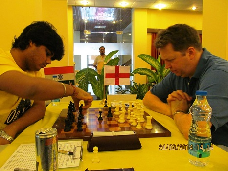 Nigel Short of England recovered to win this round against GM Debashis Das