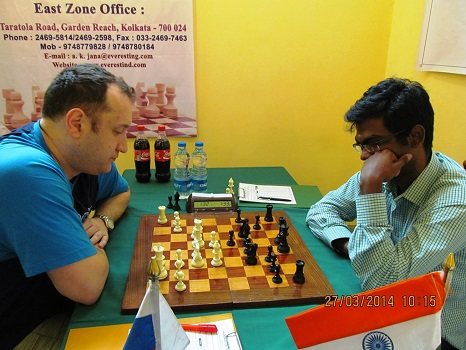 Landa Konstantin of Russia drew with former world under 16 champion SP Sethuraman