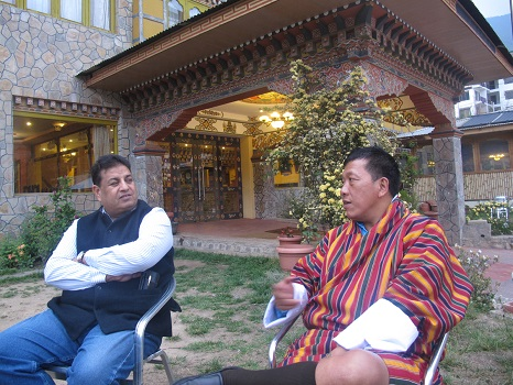 Bharat Singh  CEO  AICF left and Layke Dorji Gen Secreatry Bhutan Chess Federationright