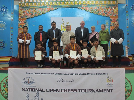 Selected member of Bhutan Chess Team for olympiad with Guest