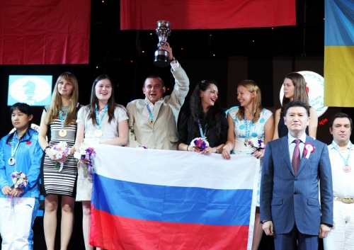 with golden Russian Women team in Istanbul 2012