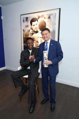 Mr Kirsan Ilumzhinov with kalmik chess