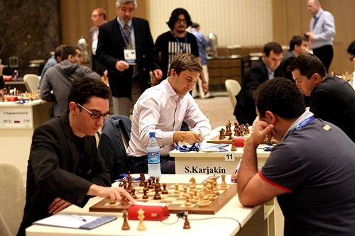 Fabiano Caruana and Rauf Mamedov