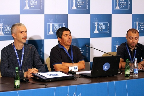 Press conference with Julio Granda