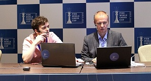 Vladimir Fedoseev in the Russian commentary room