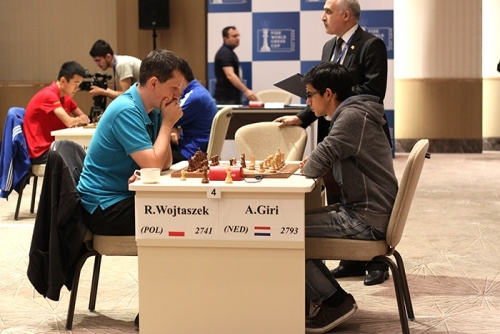 Anish Giri was convincing against Radoslaw Wojtaszek