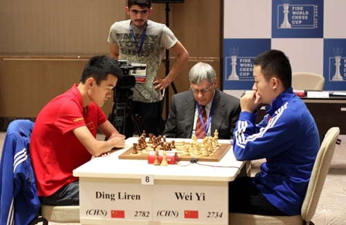Wei Yi defeated his compatriot Ding Liren