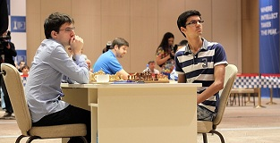 Anish Giri surprised Maxime Vachier-Lagrave in the opening
