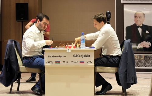 Shakhriyar Mamedyarov and Sergey Karjakin are to settle the score in tie-breaks