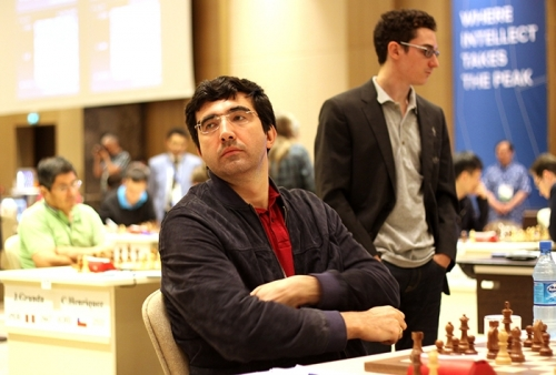 Vladimir Kramnik and Fabiano Caruana are through to the next round