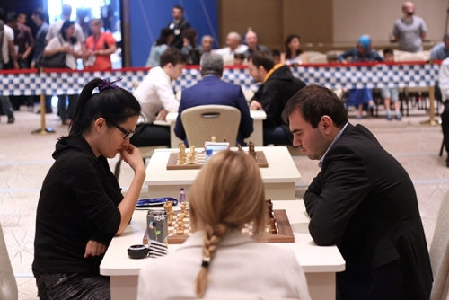 Shakhriyar Mamedyarov won a very nice game with white pieces
