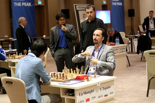 Lu Shanglei held Veselin Topalov to a draw