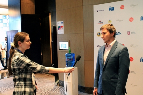 Sergey Karjakin interviewed after the game