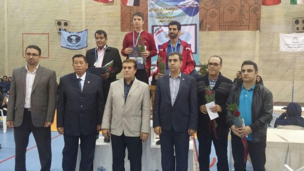 Best 3 players in Men section 1.Naderi Sadegh 2. Torkan Mohammad javad 3.Mojtaba Safari Eskandari
