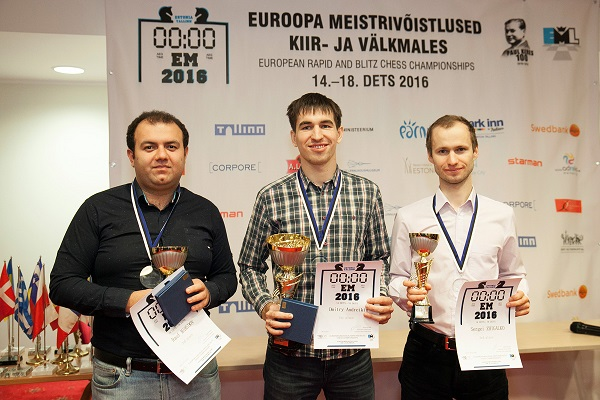 European Rapid and Blitz Chess Championship 2016 medallists