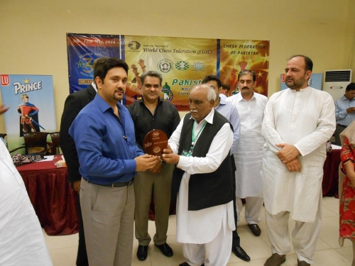 Mr. Abdus Salim R President Chess Federation of Pakistan at Closing Ceremony