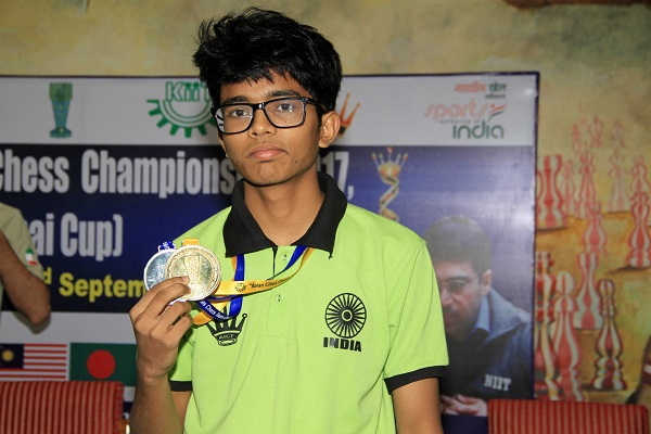 Gold Medal on second Board Rakesh Kumar Jena of Bhubaneswar