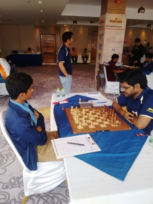 2. Defending champion Karthikeyans shocking loss to IM P Shyaamnikhil changed the proceedings of the tournament