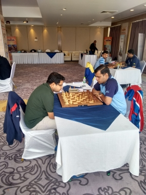 3. IM Arghyadip Das moved to second position by beating GM Himanshu Sharma