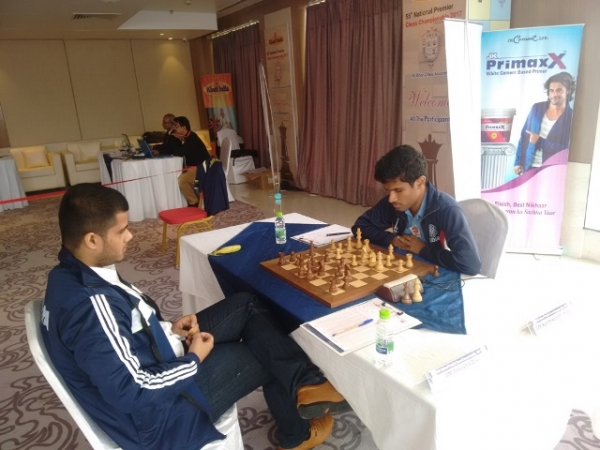 5. Debashis forced a draw with Karthikeyan in a rook vs knight ending