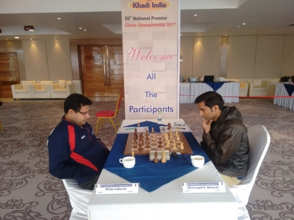 7. Arghyadip Das and Swapnil Dhopade were involved in a draw