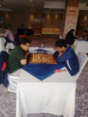 7. Arghyadip Das had little difficulty  to hold Karthikeyan Murali to a draw