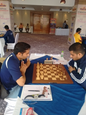 """ \""7. The third draw of the Round 8 was between GM Swapnil DHopade and GM Debashis Das\"""""