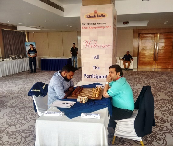 After three losses GM Deepan Chakkravarthy split the point with GM Abhijit Kunte