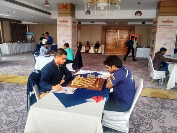GM Debashis Das played out a formal draw with IM P Shyaamnikhil