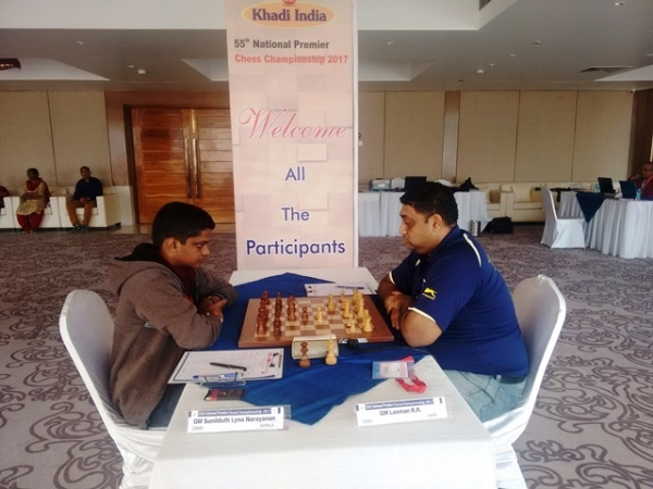 GM SL Narayanan slipped to second spot after the game against GM RR Laxman