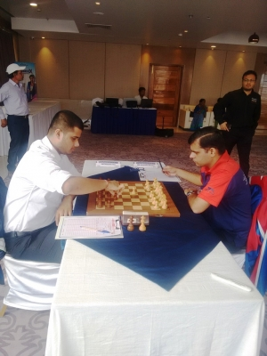 In a game of fluctuating fortunes Debashis defeated Himanshu