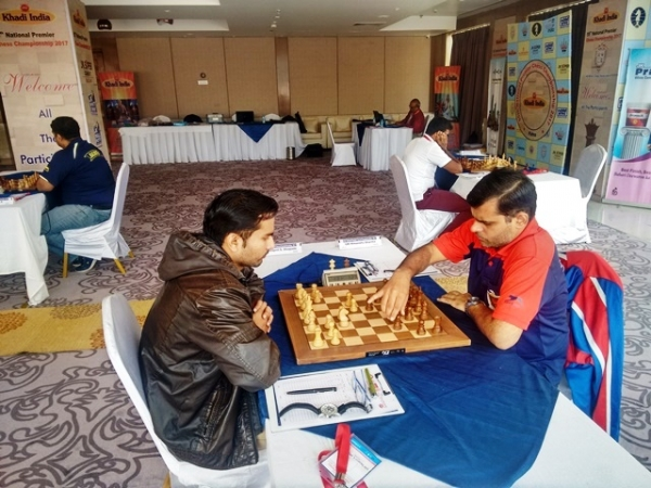 The Railway grandmasters pair Swapnil Dhopade and Himanshu Sharma had to settle for draw after 69 moves