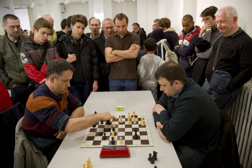 GM Bauer vs GM Fedorchuk Final round of the rapid tournament