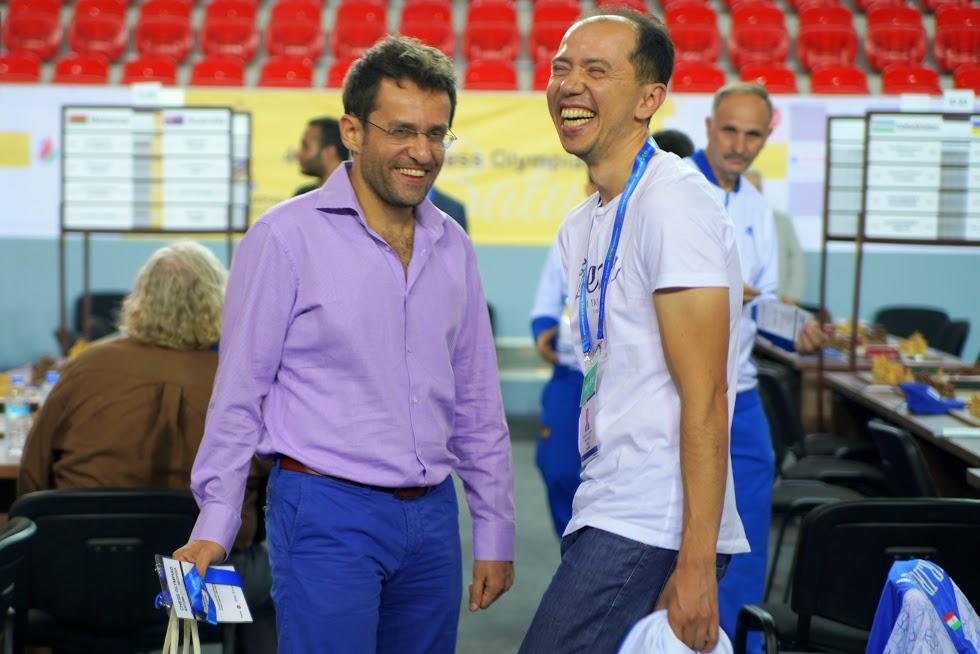 Levon Aronian and Rustam Kasimdzhanov