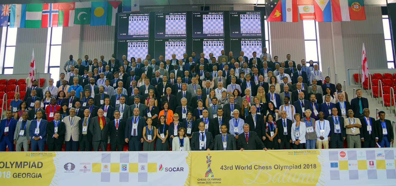 Olympiad arbiters in group photo