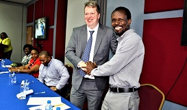 Andy Alexander President of the St. Lucia Chess Federation top