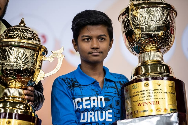 B Category Champion Dhanush Raghav